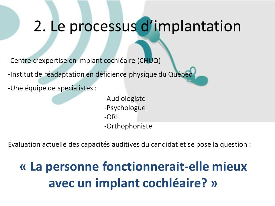 2. Le processus d'implantation