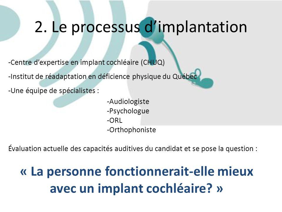2. Le processus d'implantation
