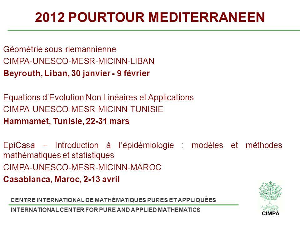 2012 POURTOUR MEDITERRANEEN