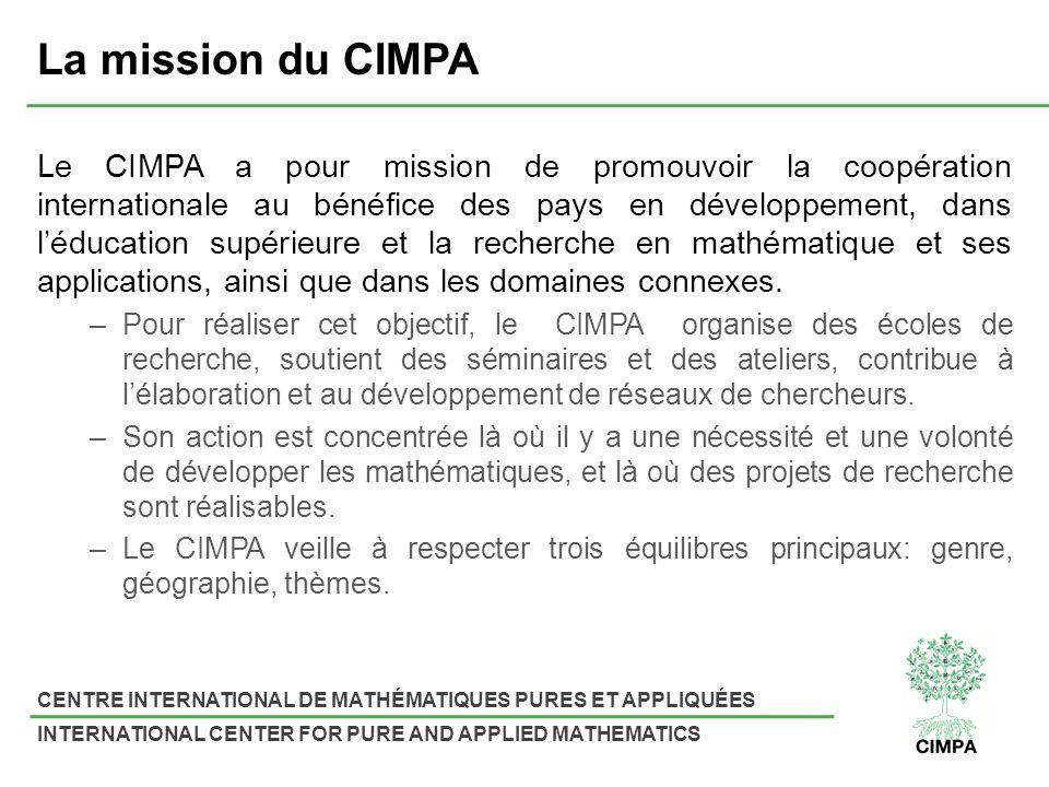 La mission du CIMPA