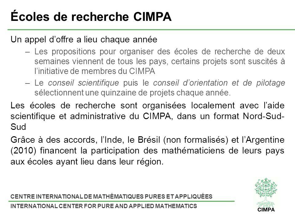 Écoles de recherche CIMPA