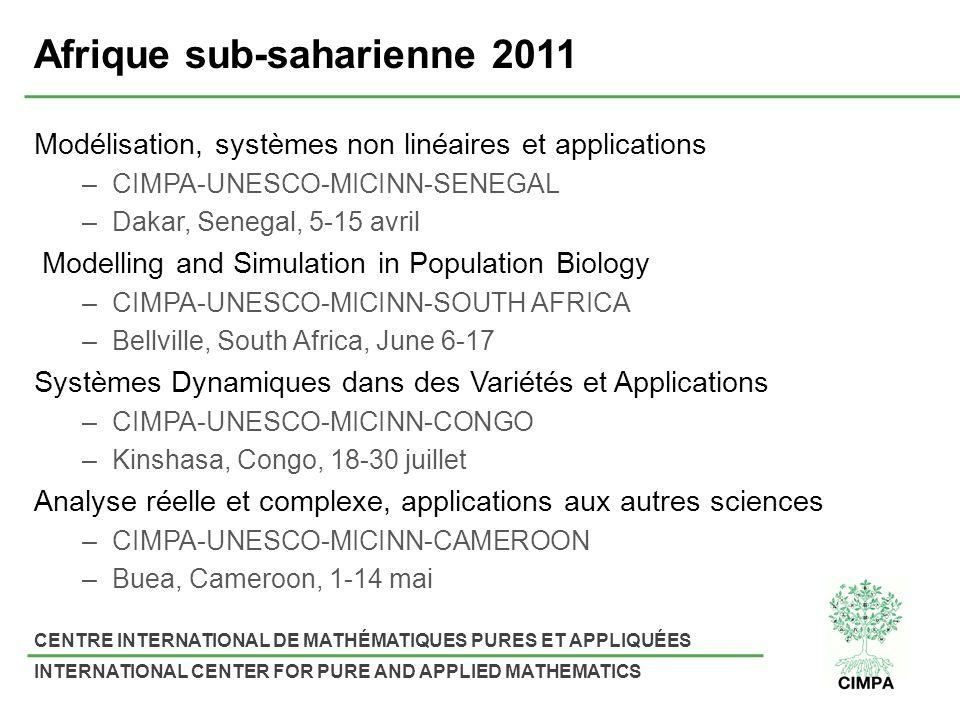 Afrique sub-saharienne 2011