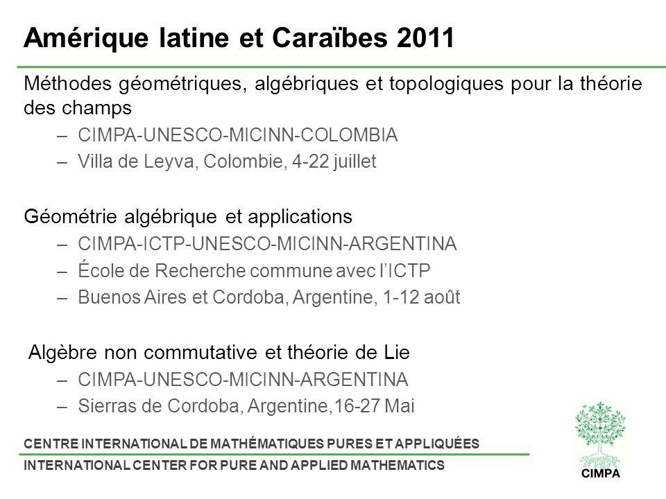 Amérique latine et Caraïbes 2011