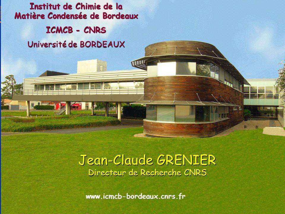 Jean-Claude GRENIER Directeur de Recherche CNRS
