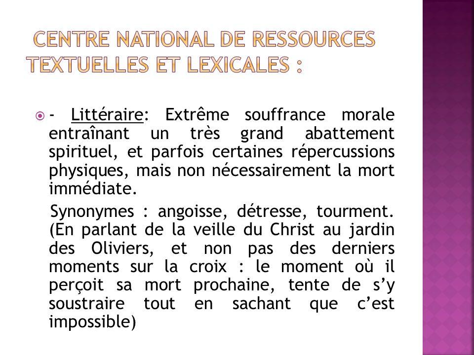 Centre National de Ressources Textuelles et Lexicales :