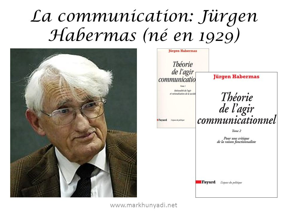 La communication: Jürgen Habermas (né en 1929)