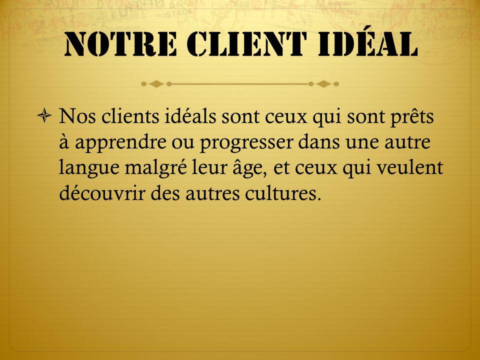 Notre client idéal