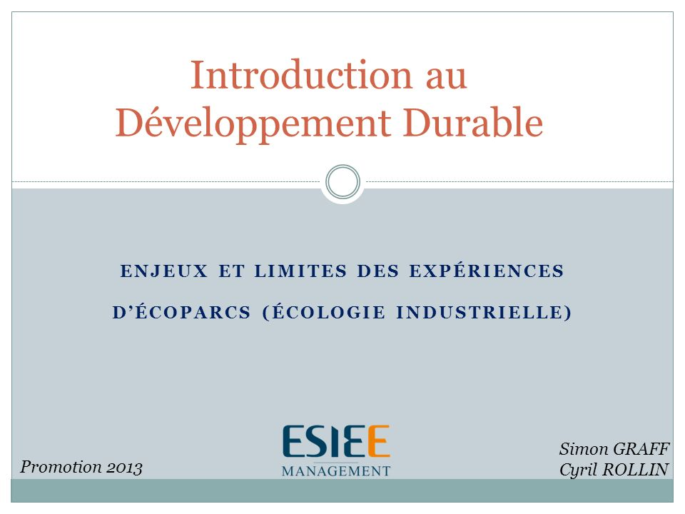 Introduction au Développement Durable