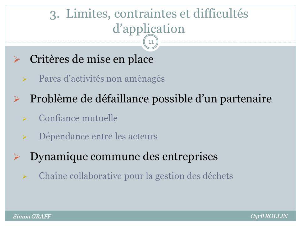 3. Limites, contraintes et difficultés d'application
