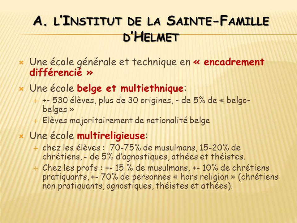 A. l'Institut de la Sainte-Famille d'Helmet