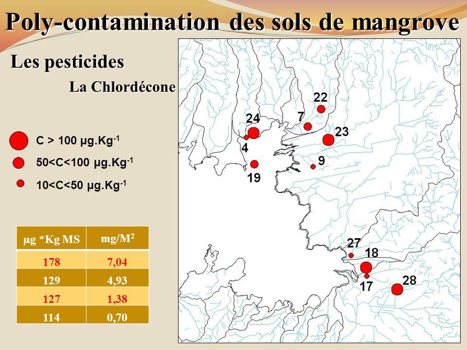 Poly-contamination des sols de mangrove