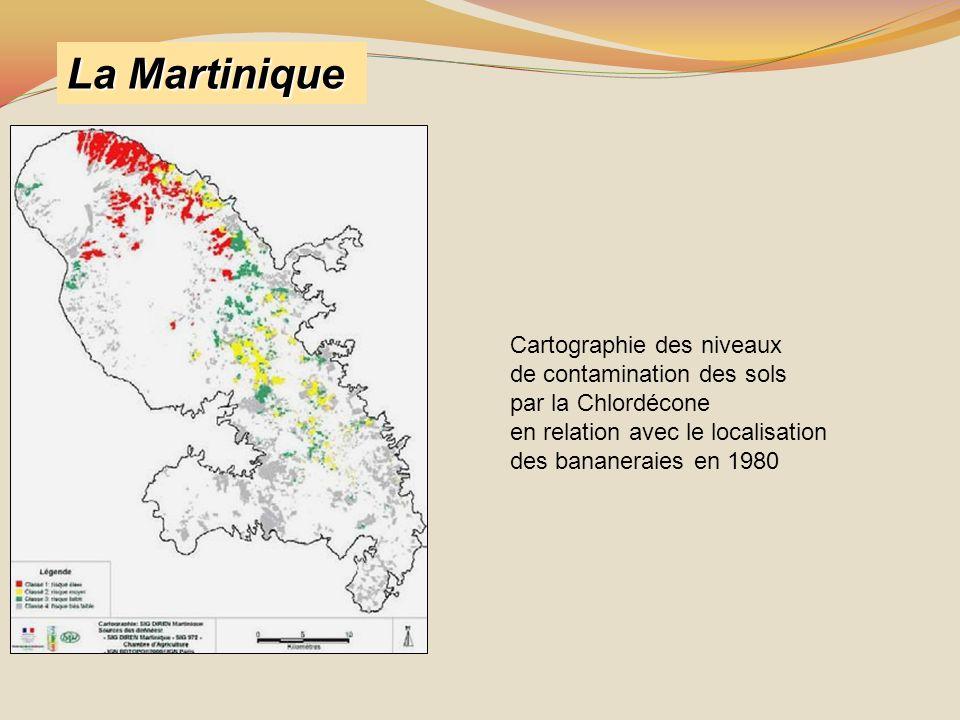 La Martinique Cartographie des niveaux de contamination des sols