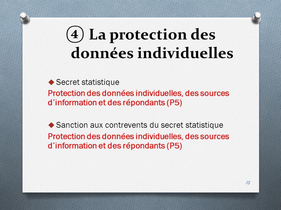 La protection des données individuelles