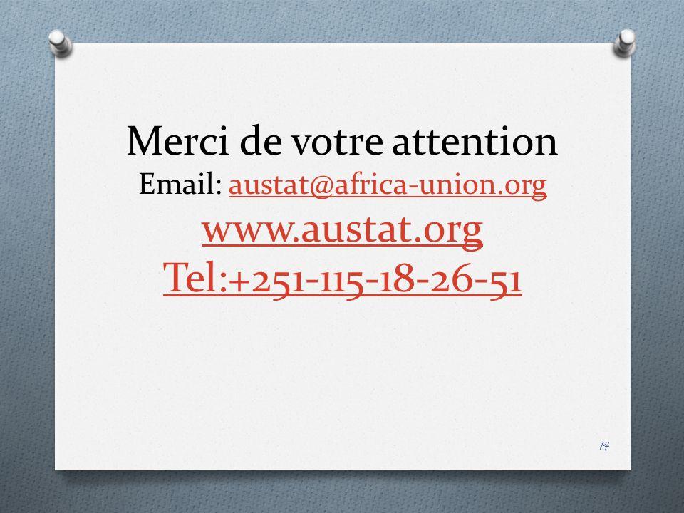 Merci de votre attention Email: austat@africa-union.org www.austat.org Tel:+251-115-18-26-51