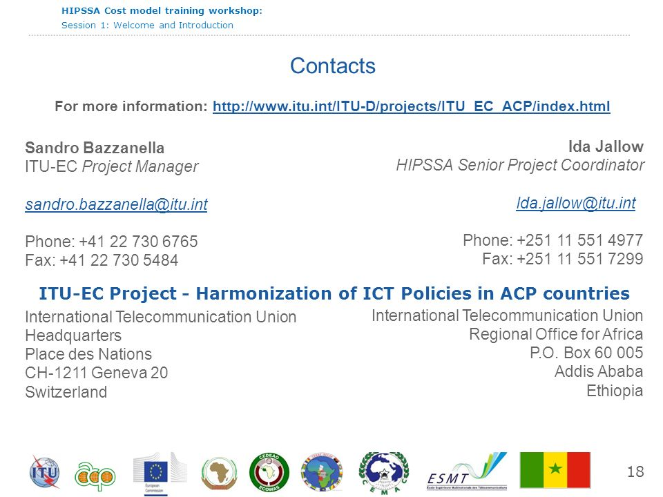 ITU-EC Project - Harmonization of ICT Policies in ACP countries