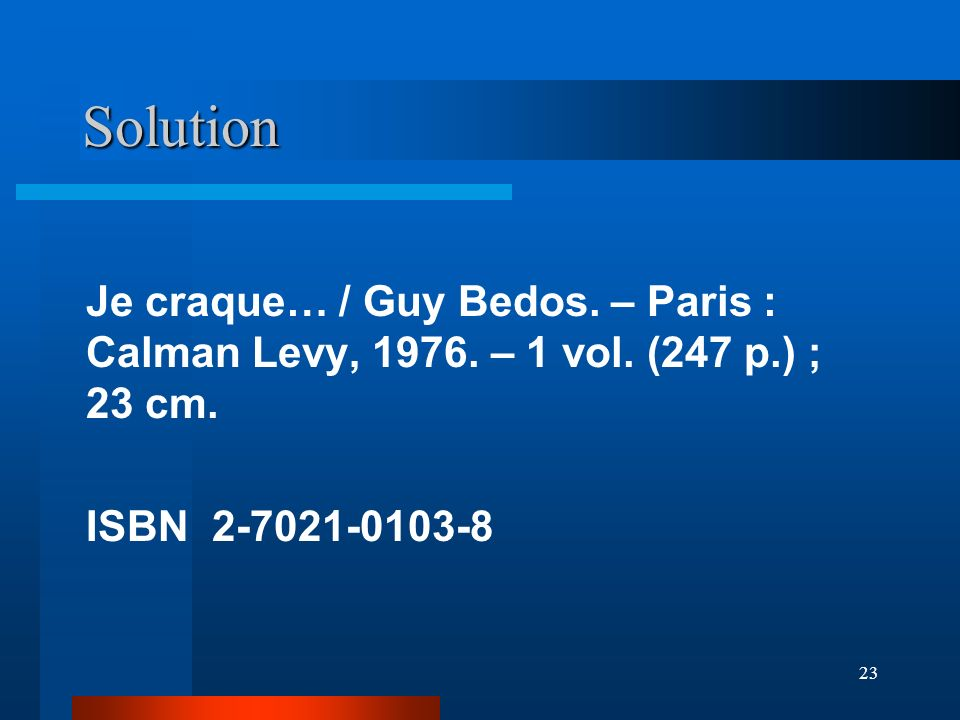 Solution Je craque… / Guy Bedos. – Paris : Calman Levy, 1976.
