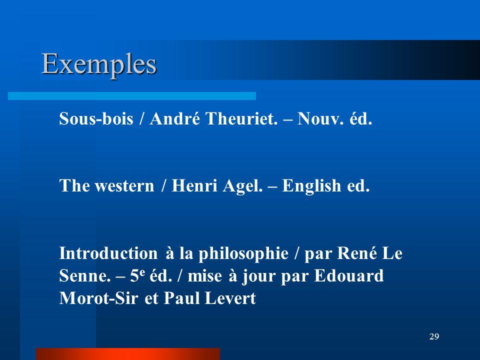 Exemples Sous-bois / André Theuriet. – Nouv. éd.