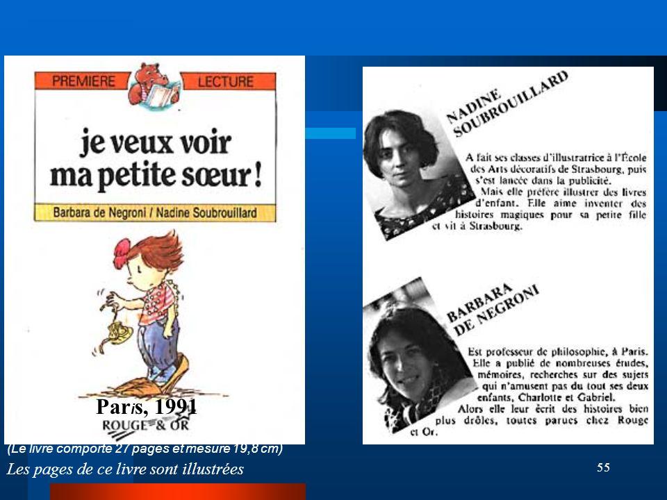 Paris, 1991 (Le livre comporte 27 pages et mesure 19,8 cm) Les pages de ce livre sont illustrées