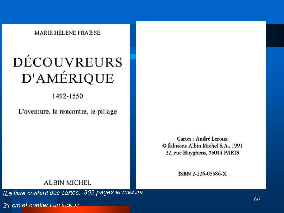 (Le livre content des cartes, 302 pages et mesure 21 cm et contient un index)
