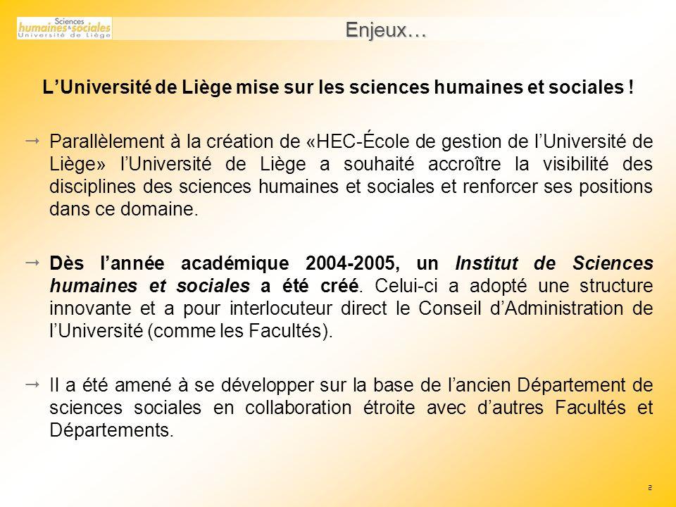 L'Université de Liège mise sur les sciences humaines et sociales !