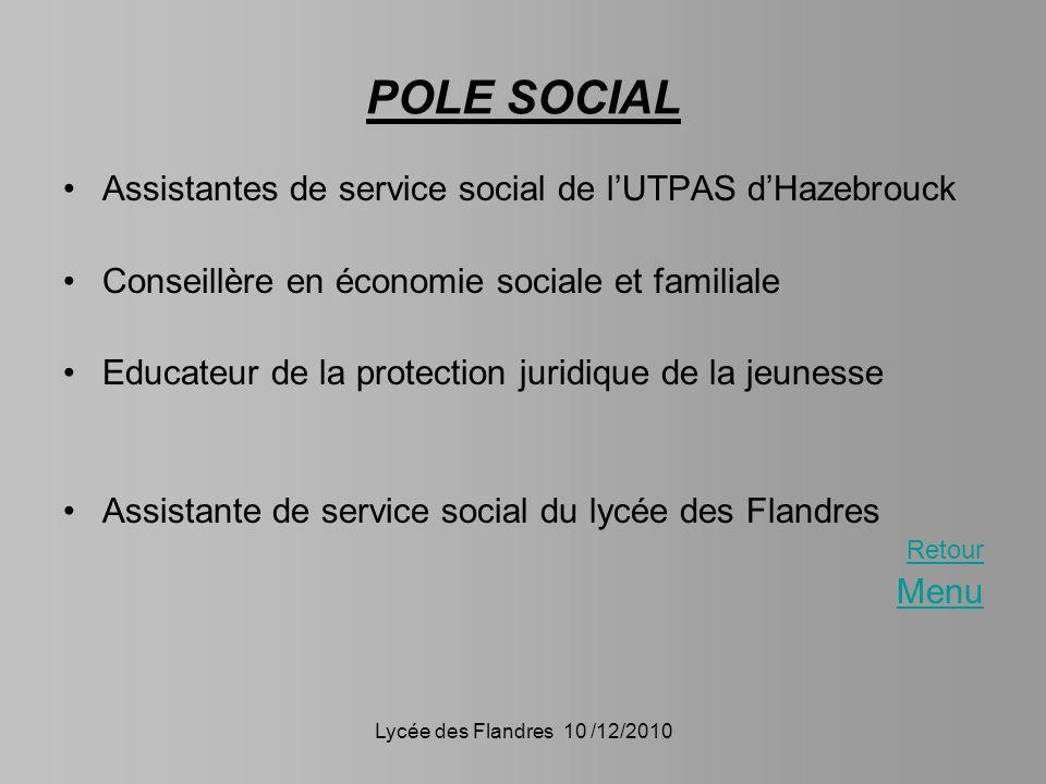 POLE SOCIAL Assistantes de service social de l'UTPAS d'Hazebrouck