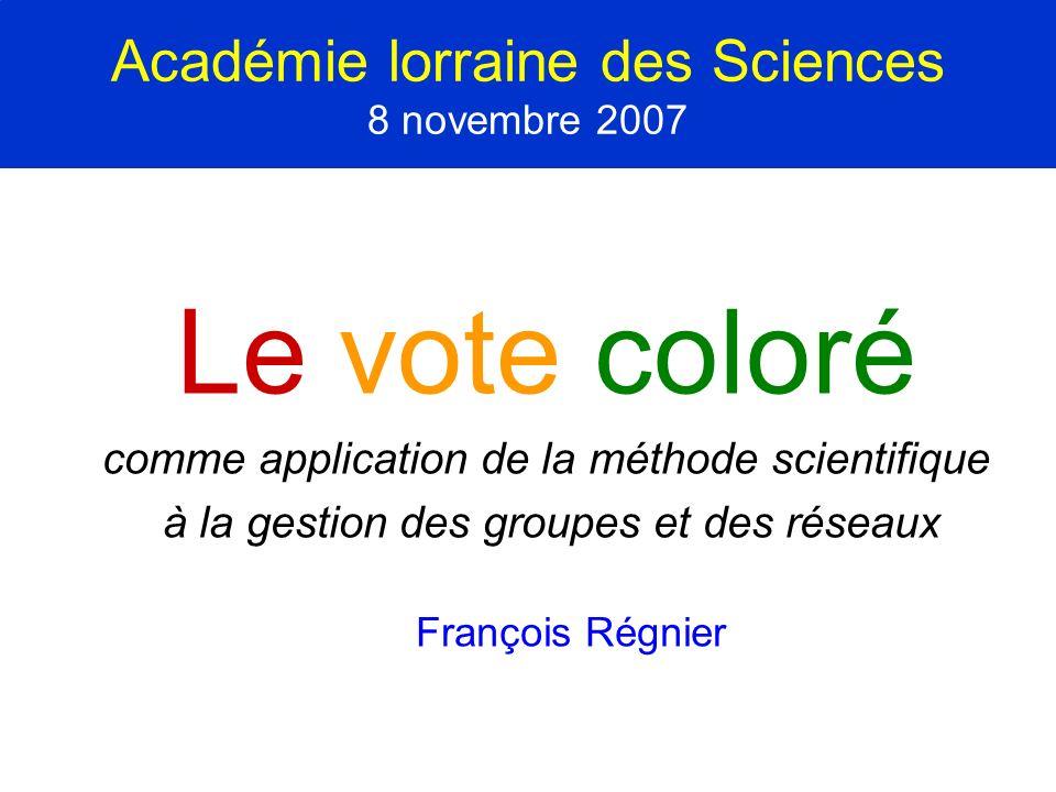Académie lorraine des Sciences 8 novembre 2007