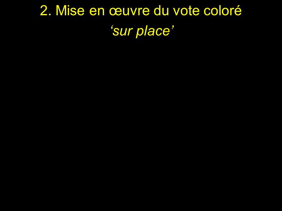 2. Mise en œuvre du vote coloré
