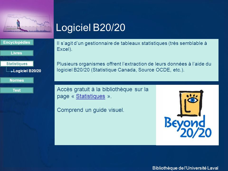 Logiciel B20/20 Encyclopédies.