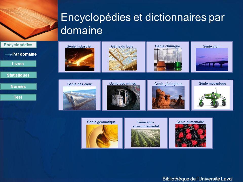 Encyclopédies et dictionnaires par domaine