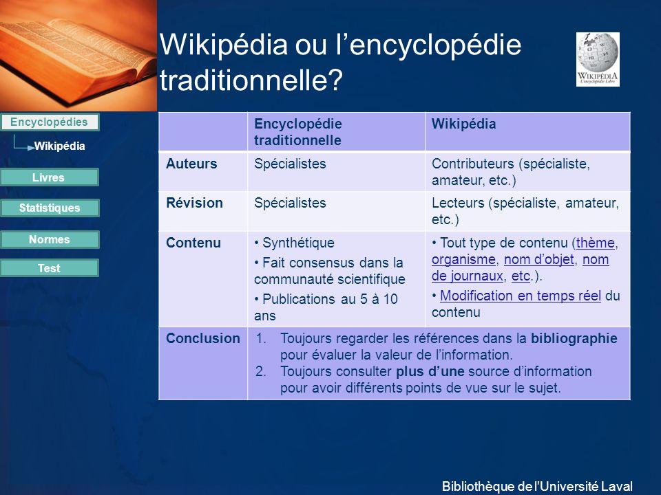 Wikipédia ou l'encyclopédie traditionnelle