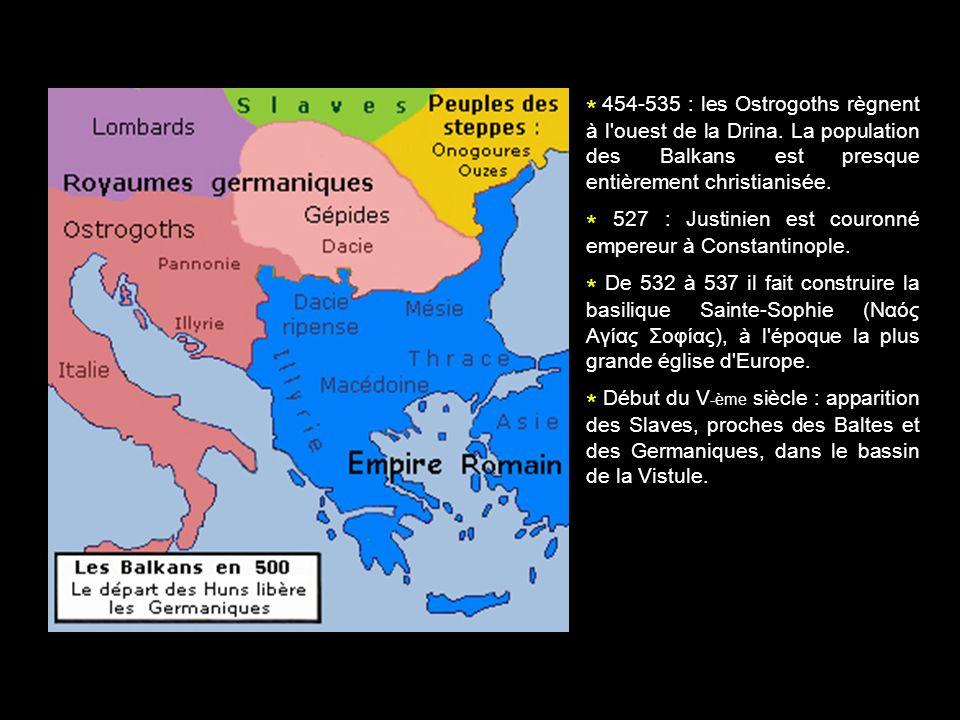 454-535 : les Ostrogoths règnent à l ouest de la Drina