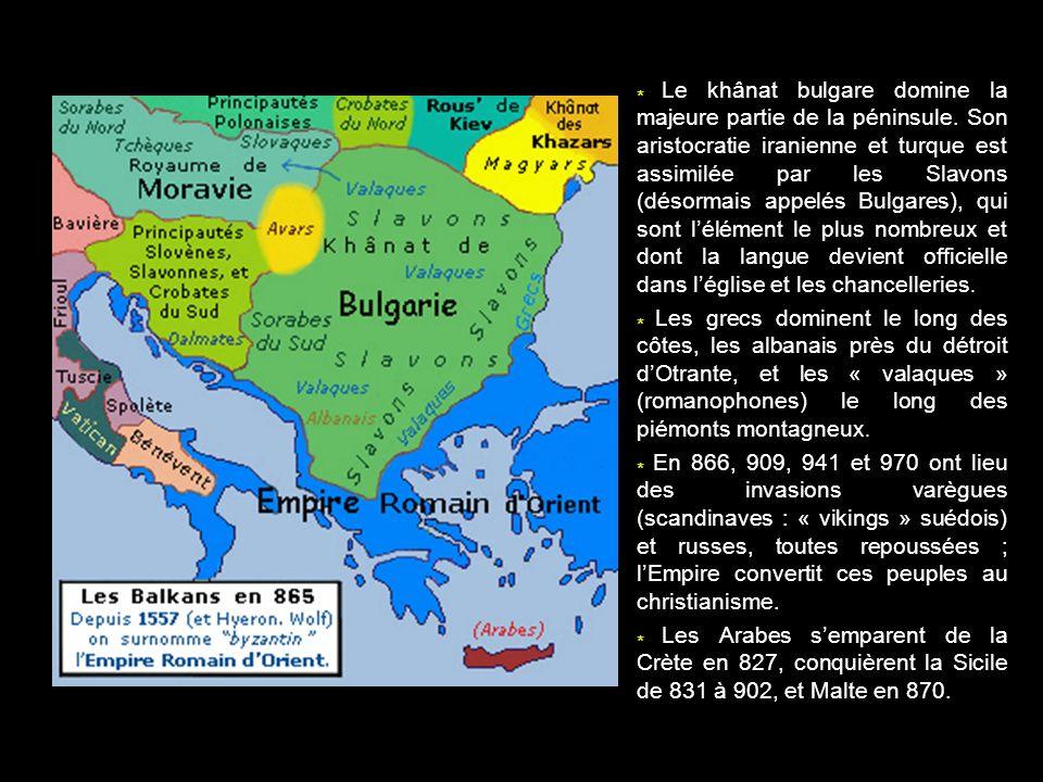 Le khânat bulgare domine la majeure partie de la péninsule