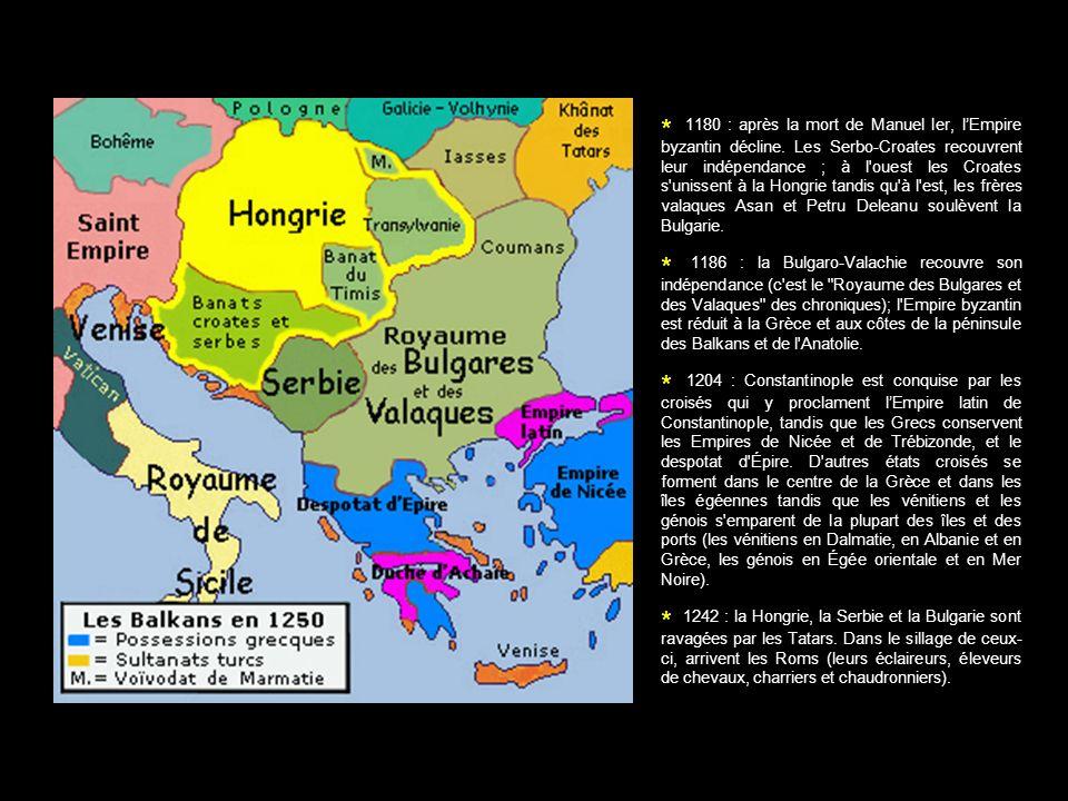 1180 : après la mort de Manuel Ier, l'Empire byzantin décline