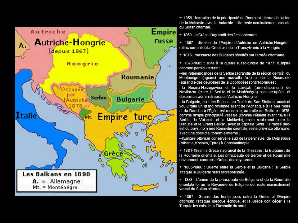 * 1863 : la Grèce s agrandit des îles Ioniennes.