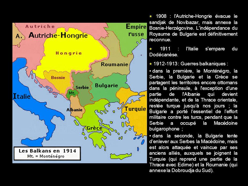 * 1911 : l Italie s empare du Dodécanèse.