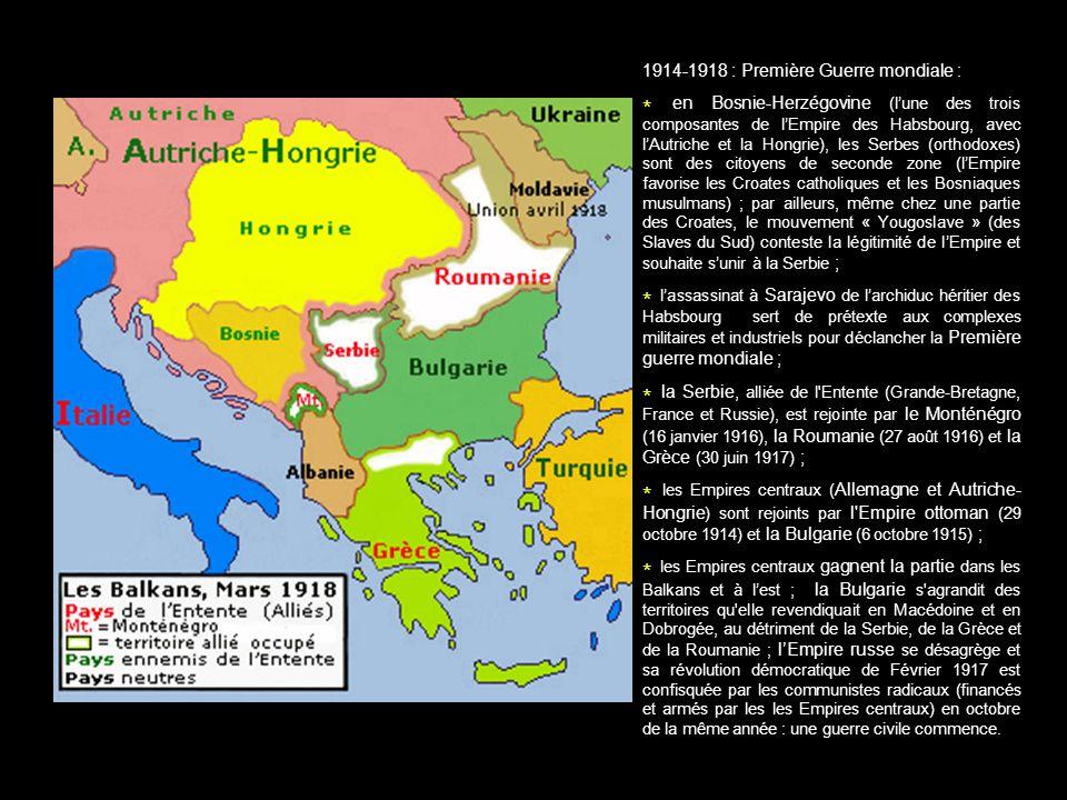 1914-1918 : Première Guerre mondiale :