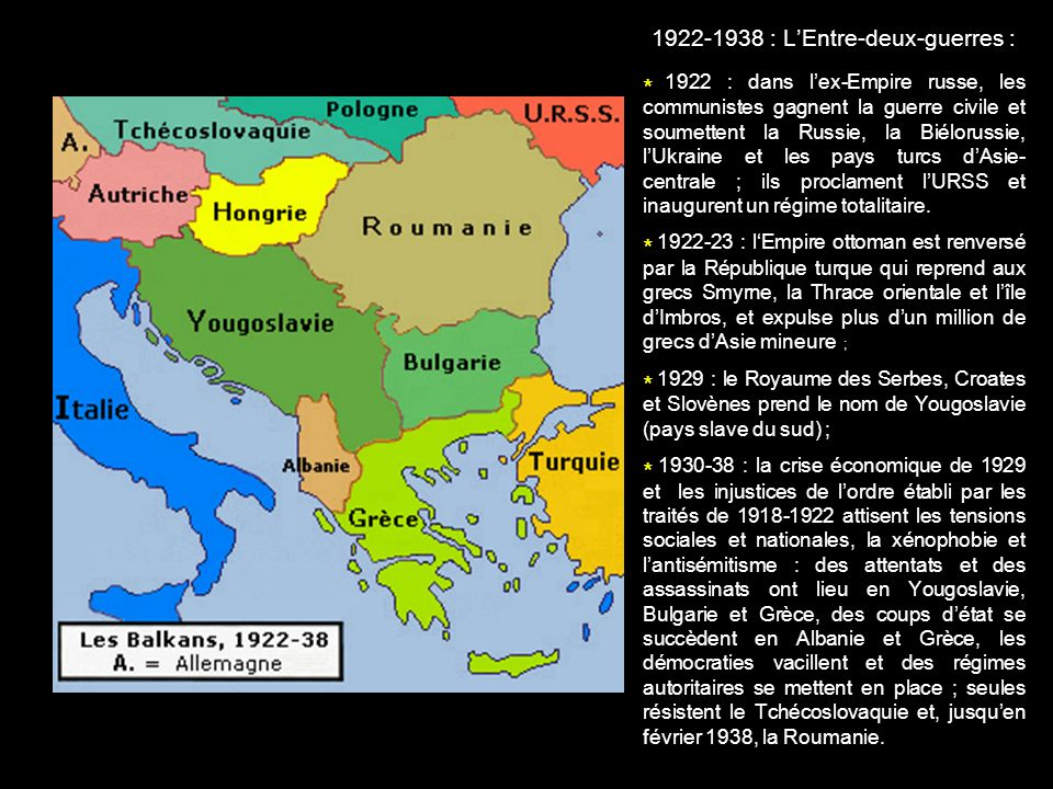 1922-1938 : L'Entre-deux-guerres :
