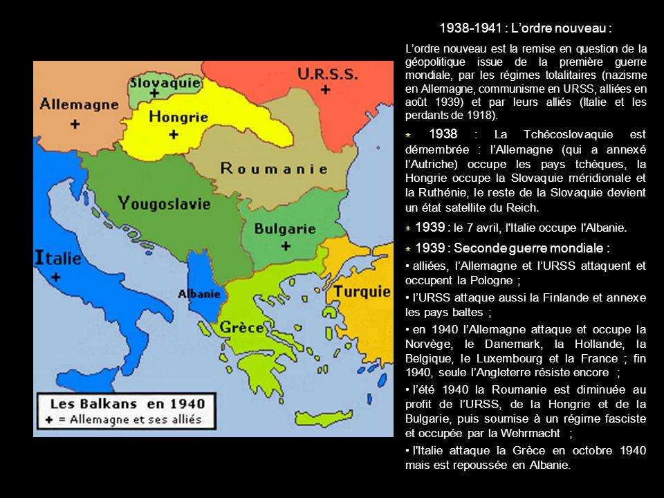 * 1939 : le 7 avril, l Italie occupe l Albanie.