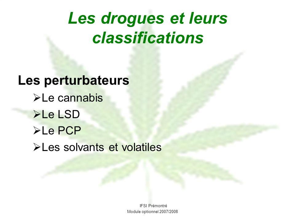 Les drogues et leurs classifications