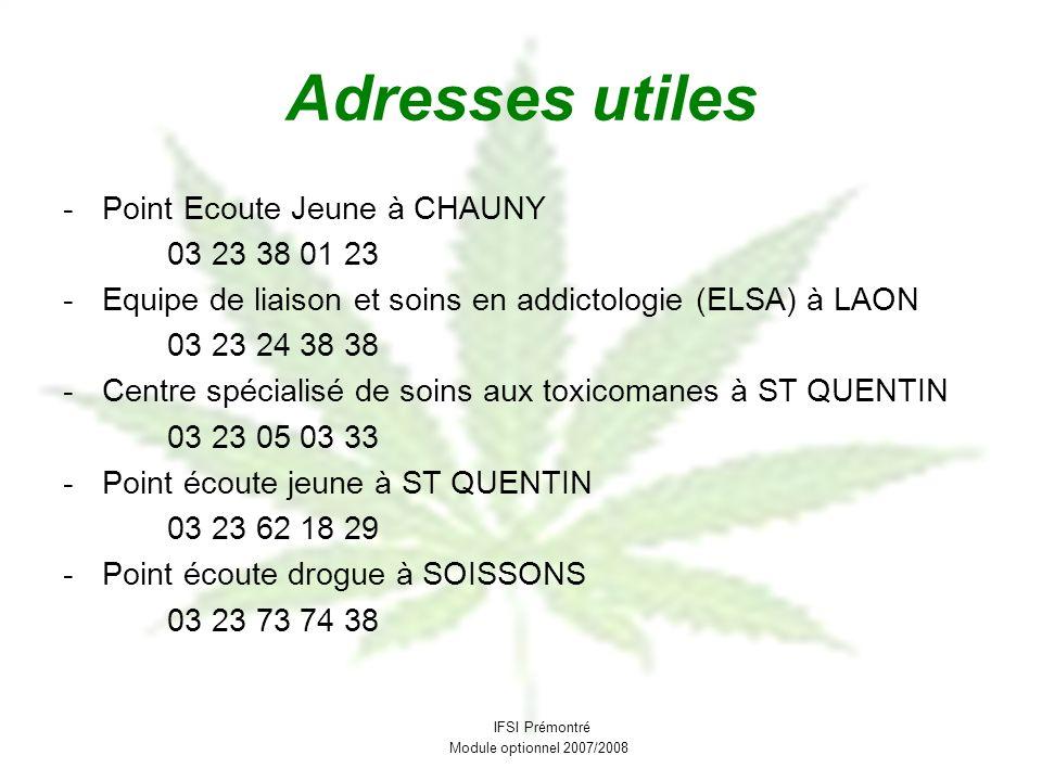 Adresses utiles Point Ecoute Jeune à CHAUNY 03 23 38 01 23