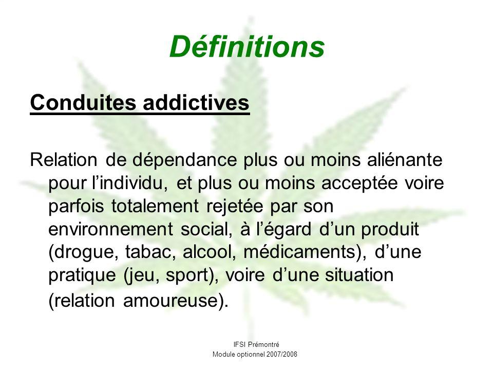 Définitions Conduites addictives