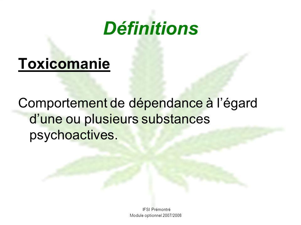 Définitions Toxicomanie