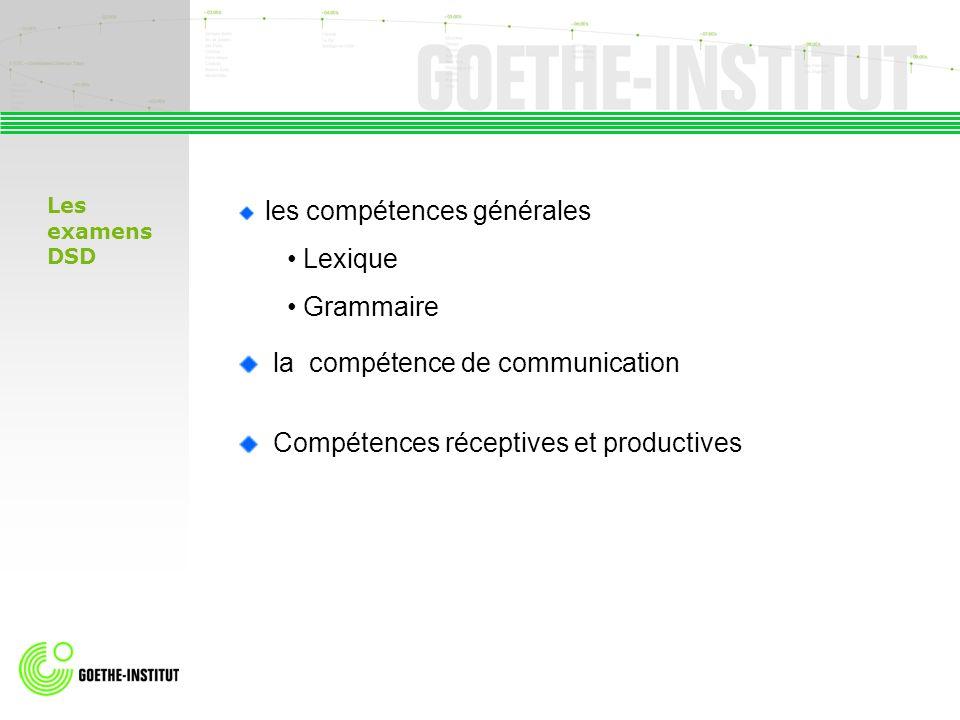la compétence de communication Compétences réceptives et productives