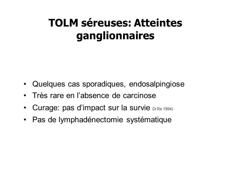 TOLM séreuses: Atteintes ganglionnaires