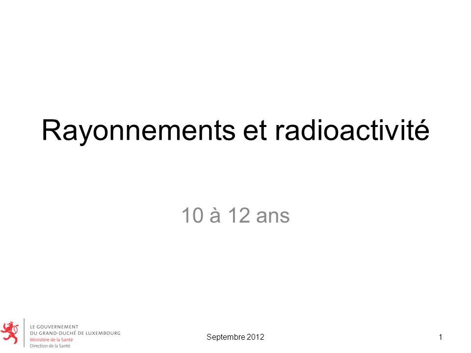 Rayonnements et radioactivité