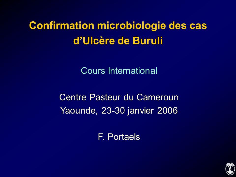 Confirmation microbiologie des cas
