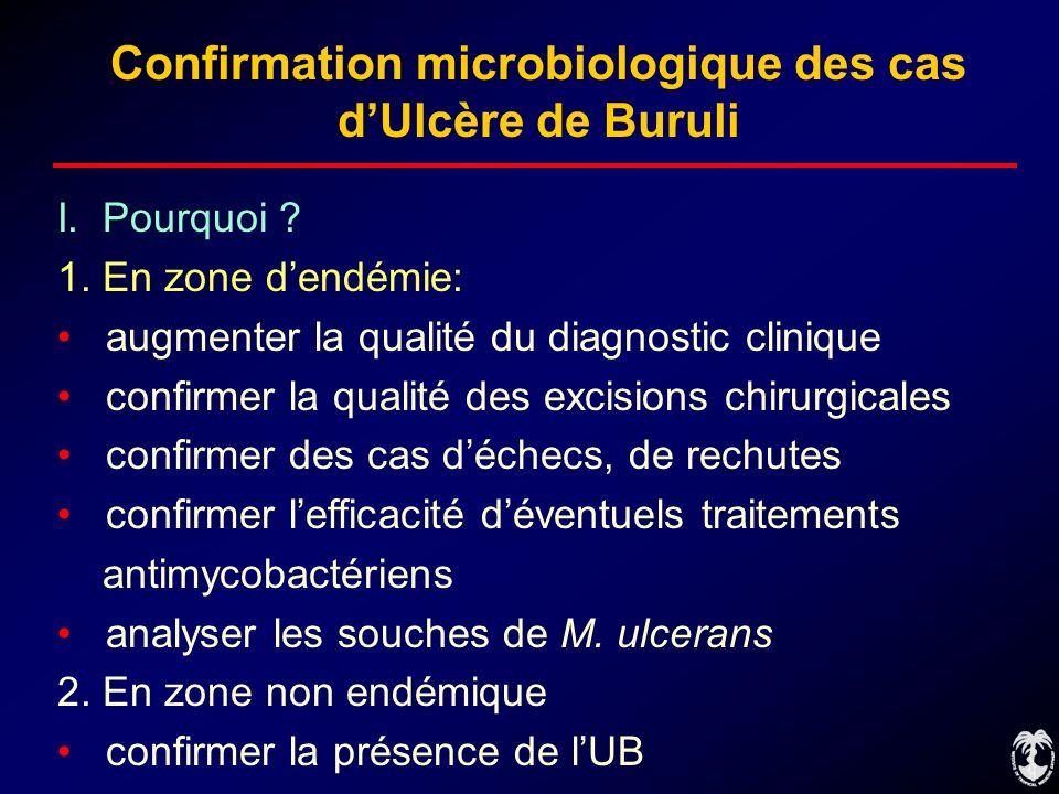 Confirmation microbiologique des cas d'Ulcère de Buruli