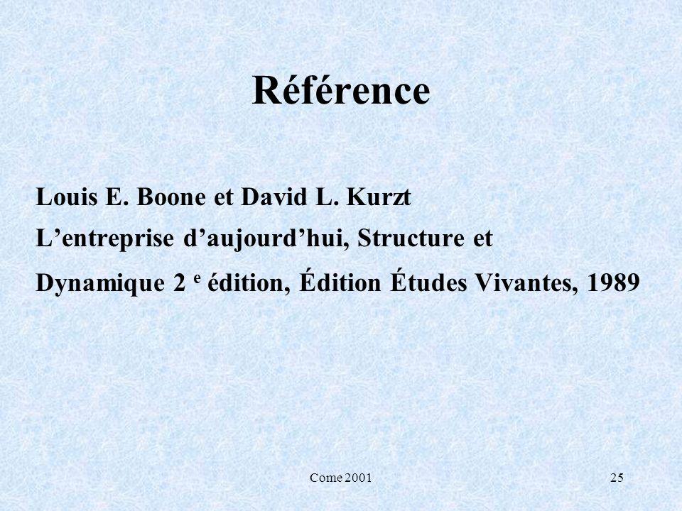 Référence Louis E. Boone et David L. Kurzt