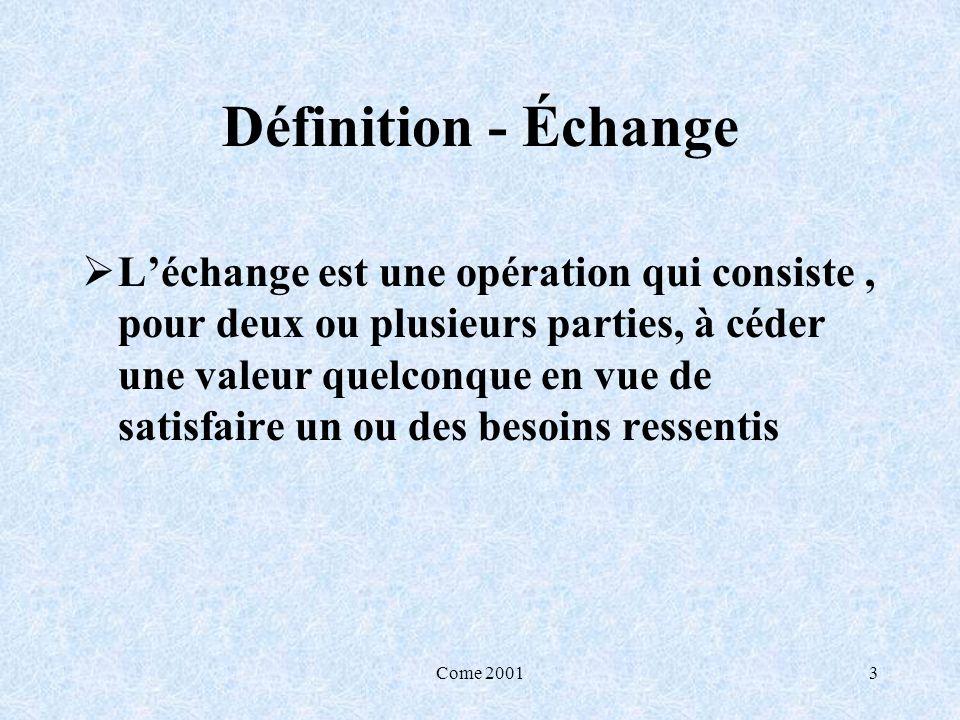 Définition - Échange