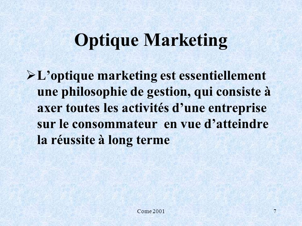 Optique Marketing